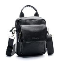New arrival fashion genuine cowhide leather handbag one shoulder casual male fashion handmade waist pack