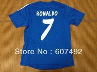 2013/2014 real madrid  away bule #7 RONALDO thailand  jerseys, top quality t-shirt,SOCCER jerseys fan version embroided logo