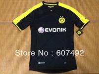 2013/2014 Borussia Dortmund away black thailand  jerseys, top quality,SOCCER jerseys fan version embroided logo