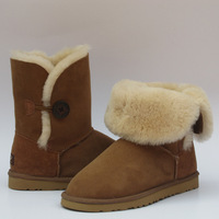 Winter warm shoes Wool and fur knee-high snow boots 5803 Free shipping