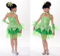 5sets/lot  girls kids costume fairy Children dance clothes / costumes children's costume girls dance clothing