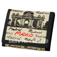 Free shipping 2014 new Fashion casual canvas wallet card male street student wallet