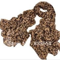 Large U-shaped chiffon leopard scarf leopard scarf female shawl long!!!!FREE SHIPPING