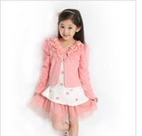 Autumn children's clothing girls jacket with Polka Dot Dress, Girls Autumn Zhongda children piece fitted--AE016