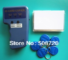 RFID Handheld Duplicator 125KHZ Card copier writer+5pcs EM4305 rewritable tags+5pcs T5577 rewritable cards(China (Mainland))
