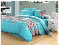 FEDEX Free Shipping 2013 new 100% cotton Neat Smelling flower Soft printing bedding 4PCS Set