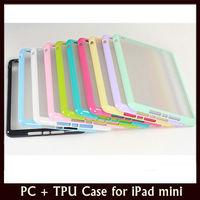 PC+TPU Matte Suface Cover Case for Apple iPad mini + 10 pcs/lot Free Shipping