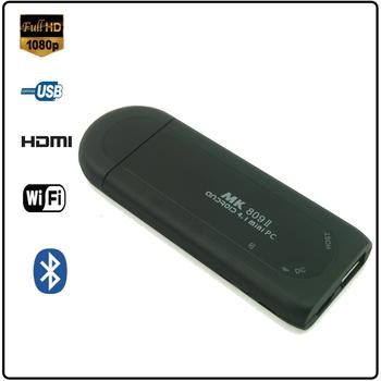 Mk809 II Android 4.1 mini computer TV rk3066 1.6GHz Cortex A9 s dual core 1GB memory, 8GB Bluetooth mk809ii TV box free shipping