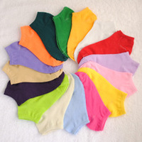 Summer solid color sock slippers candy color socks shallow mouth socks invisible socks