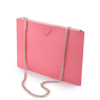 Korean version of the envelope sweet lady leather handbags women leather clutch bag