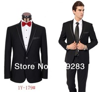 2013 new design hot selling brand men black khaki suits fashion men's handsome suit
