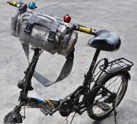 Gray New Cycling Bike Bicycle Multifunction handlebar Bag Waist Bag Shoulder Bag