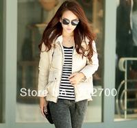 Товары на заказ 2013 Autumn Winter Women Fashion Slim Fur Collar With A Hood Cotton Wadded Jacket Short