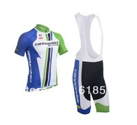 2013 cannondal pro Team Blue&Green Cycling clothes /Cycling Jersey ,Short-sleeved Bib Shorts Free shipping!981
