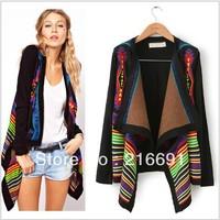 2013 new fashion Europe women elegant vintage Striped irregular Knitted Cardigans stylish Casual Slim sweater coat  #W661