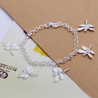 Free shipping wholesale for women/men's 925 silver bracelet 925 silver fashion jewelry charm bracelet dragonfly Bracelet SB092