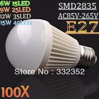 Free FEDEX DHL100X Bubble Ball Bulb AC85-265V 15W E27 E14 High power Energy Saving Ball steep light LED Light Bulb Lamp Lighting