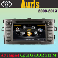 Car DVD Player autoradio GPS navi Toyota Auris +  3G WIFI + V-20 Disc + 1GB cpu + DDR 512M RAM + DVR + A8 Chipset