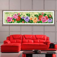 3d print cross stitch kit chiban peony flowers rich 214*61CM