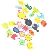 H3#R 12PCS Cute Animals Refrigerator Magnet Wooden Magnetic Sticker Kids Children Educational Tool