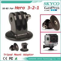GoPro Tripod Adapter for GoPro HD Hero Original Hero1 2 Hero 3 Camera Monopod Mount New Free shipping