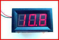 50pcs/lot Red LED DC3.2 - 30V Digital Volt Voltage Panel Meter, For car battery 9V 12V 24V