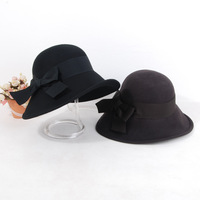 New woolen hat irregular French woolen big fedoras female