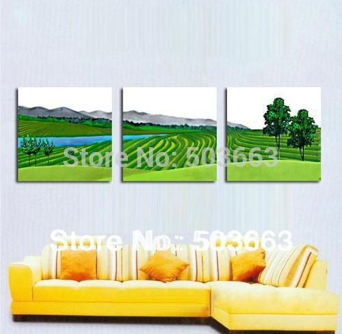 30x40x3 orientais 3 peças Pintura a óleo Art Flores abstratas lona da parede da casa Deco S- 522D(China (Mainland))