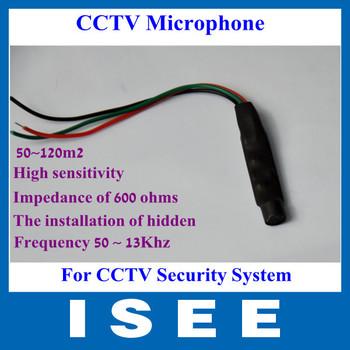Mini Wide Range CCTV Microphone Audio Monitor Sound Monitor for CCTV Security Camera Audio Surveillance DVR Free Shipping
