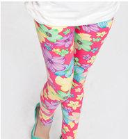 Hot autumn -summer girl's leggings, flowers children pants, kids legging, many design to choose, 5pcs/lot, freeshipping