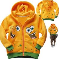 free shipping RETAIL FLEECE thick sweatshirt coat  for boy sponge baby boys top jacket 2013 autumn boys top clothes outwear
