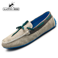 Summer male casual shoes breathable shoes genuine leather fashion popular boat shoes scrub Moccasins male