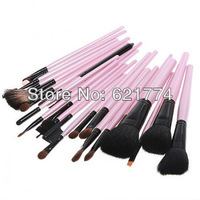 23pcs Professional Makeup Brush Sets Cosmetic Brushes kit with Pink Leather Case Gift Free Shipping