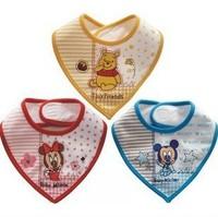New style 3pcs/lot free shipping,DIS baby's NEY cotton cartoon bibs ,baby's cotton Burp Cloths