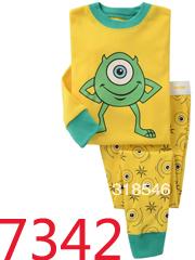 FREE SHIPPING 6sets/ lot 100% cotton baby girls sleeping wear with animal design baby wear kids pajamas 2-7years(China (Mainland))