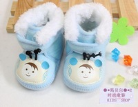 Baby winter velvet thickening cotton boots cotton-padded shoes cow muscle outsole soft outsole baby warm shoes toddler shoes