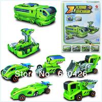 Popular Educational DIY Solar Energy Car Seven in One Natural Energy Creative High-tech Novelty Toys Free Shipping