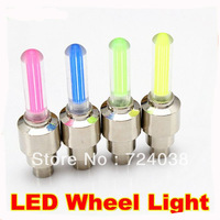 Bicycle wheel motorcycle 4 colors on sale LED Flash Tyre Wheel Valve Cap Light and car LED drl Wheel Light daytime running light