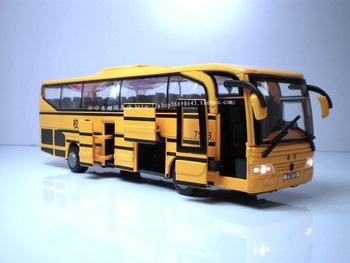 Nene cars Large bus school bus police car alloy car acoustooptical open the door toy car