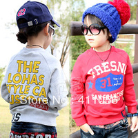 2013 autumn digital 31 paragraph of boys clothing girls clothing baby fleece sweatshirt wt-0939