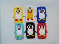 3D Cartoon Cute Penguin club siliocne case for Samsung Galaxy S4 i9500