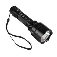 Discount!10PCs Ultrafire C8 5-Mode 300 Lumens CREE Q5 LED Flashlight Power By 1*18650 Battery Waterproof Camping Hiking Torch