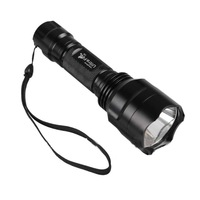 Discount!10PCs Ultrafire C8 5-Mode 300 Lumens CREE Q5 LED Flashlight Power By 1*18650 Battery Waterproof Camping Hiking Torch