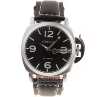 Watch fully-automatic back through the mechanical watch genuine leather strap honorable navy mens watch