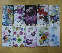 50pcs/lot Free shipping New Flower TPU Case Cover For Samsung Galaxy S2 i9100