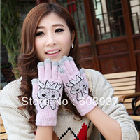 Capacitance screen touch screen cashmere gloves induction gloves female winter female yarn thermal gloves