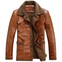2013 male sheepskin wool one piece male leather clothing turn-down collar male berber fleece fur coat leather overcoat