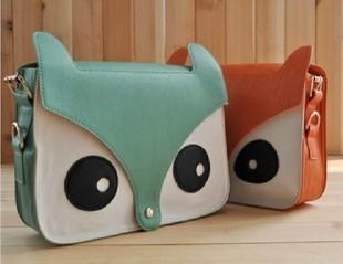free shipping !!!2013 New Women Ladies Retro Shoulder Bag Fashion Messenger Bags Cute School Tote Owl Fox PU Handbags