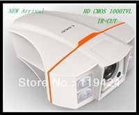 New Arrival 1000TVL CMOS IR-CUT with 4pcs array led 6mm standard lens outdoor waterproof free shipping