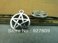 Free Delivery  50pcs/lot  antique silver five-pointed star 17*20mm  diy accessories vintage Alloy Charms/Pendants Accessories